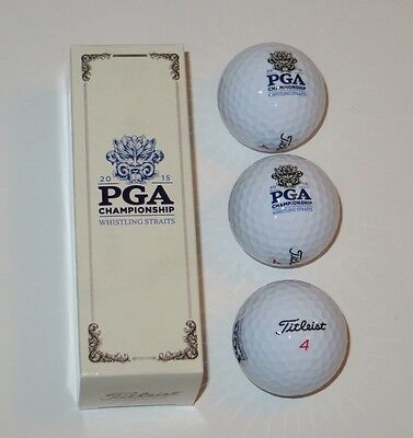 Whistling Straits Pga golf Ball Sleeve of 3 Titleist 2015 Pg