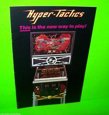 Williams HYPERBALL Hyper-Tactics Original 1981 Pinball Machine Booklet Flyer