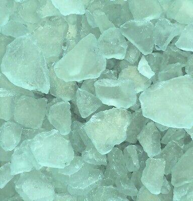 SEEGLAS 1 kg. Glasscherben ca 20 - 50 mm, Mosaikglas, Glas- Bruch. blau TÜRKIS Scherben