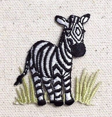 Zebra in Grass - Wild Animals/Zoo/Safari - Iron on Applique/Embroidered Patch for sale  Little Rock