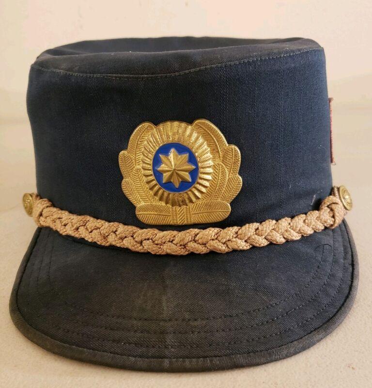 Antique Uzbekisistan Uzbekistani Police Cap Hat - Vintage Obsolete