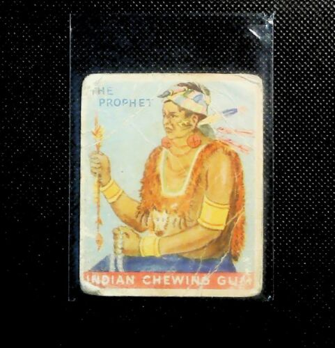 1933 #34 The Prophet Shawnee Chief Goudey Indian Chewing Gum Card