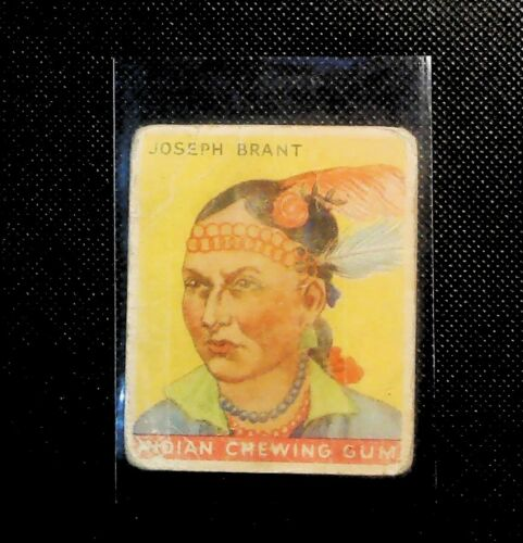 1933 #27 Joseph Brant Goudey Indian Chewing Gum trading card