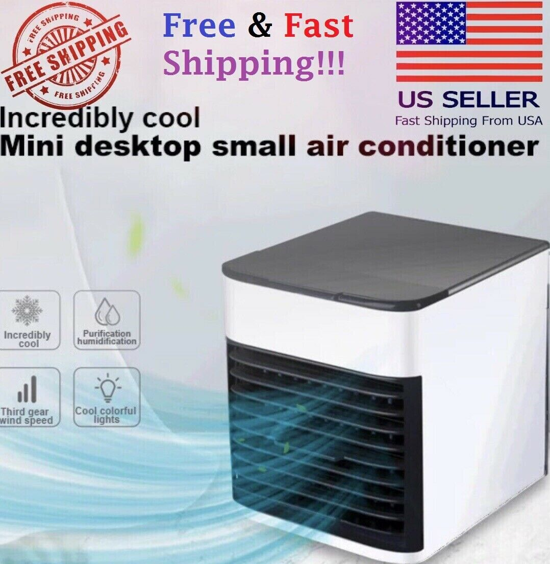 Mini Air Conditioner Cooler Personal Space Cooling Humidifier 500ML Heating & Cooling Appliances