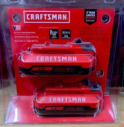 CRAFTSMAN V20 2-Pack 20-Volt Max Power Tool Battery -NEW