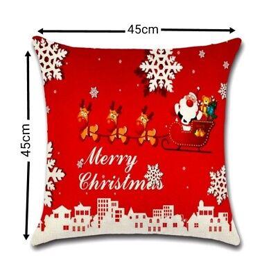 Sofa-kissen-abdeckung (Merry Christmas Kissenbezug Kissenhülle Weihnachten Sofa Kissen Abdeckung 45x45)