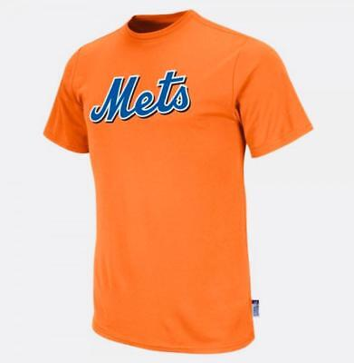 New York Mets Boys Majestic Youth Cool Base Crew Neck MLB Replica Jersey Shirt