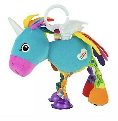Lamaze Clip & Go Darcy Darlingmane Baby Car Seat Toy Rainbow Multi Color NIP