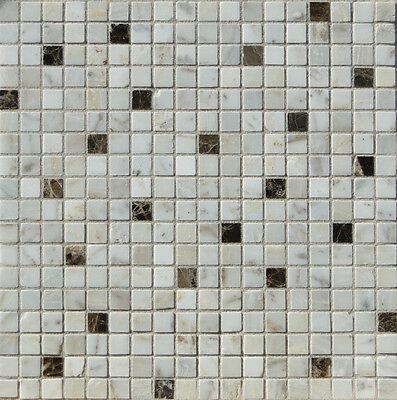 Emperador Braun Marmor (Marmormosaik Mosaikfliese weiß braun 30x30x0,8cm, Emperador dark & Calacatta 1,5)