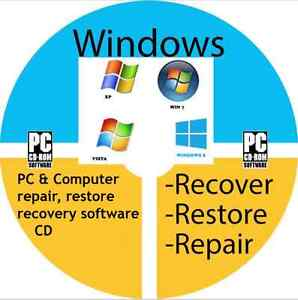 PC COMPUTER LAPTOP REPAIR RESTORE RECOVERY SOFTWARE CD WINDOWS XP VISTA 7 164