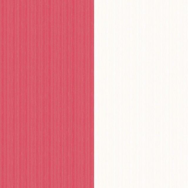 Red and White Wide Stripe Wallpaper Modern Feature FD41003