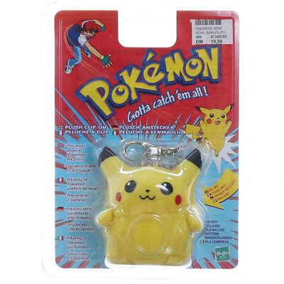 Pokemon Pikachu Plüsch Anhänger clip on Schlüsselanhänger mit Sprachfunktion Rar