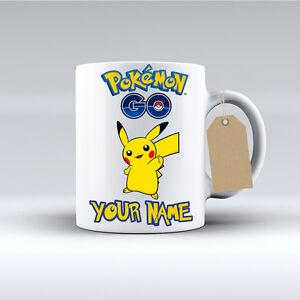 Pokemon GO - Personalised Coffee Mug Tea Cup Christmas Birthday Valentines Gift.