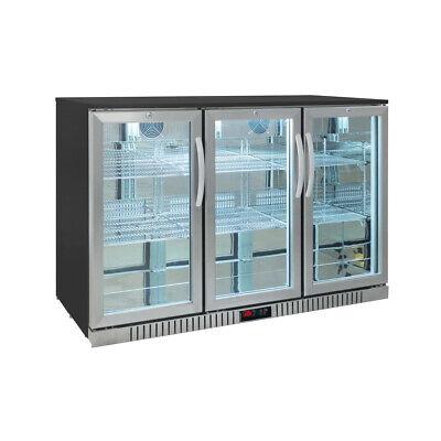 Procool Residential 3-door Stainless Steel Back Bar Beverage Cooler - Home Bar