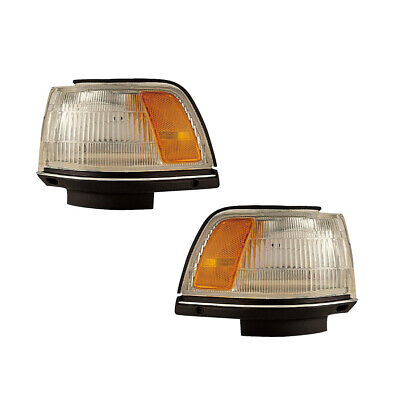 87-91 Toyota Camry Sedan/Wagon Driver & Passenger Park Clearance Lights Pair Set