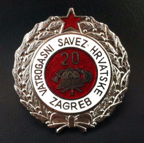 Croatia badge 20 year serviceFirefighting  medal Yugoslavia SFRJ - rarre medal