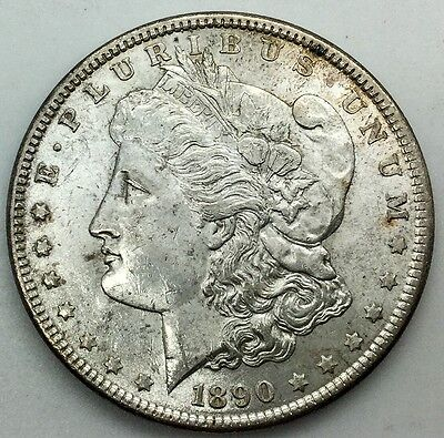 1890   PHILADELPHIA  MORGAN SILVER DOLLAR  PLEASING ORIGINAL EXAMPLE