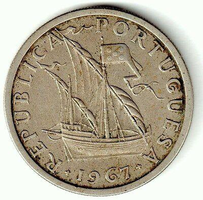 Portugal 5 Escudos Coin. 1967.