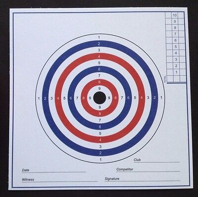 SALE. AIR RIFLE PISTOL TARGETS.. 100No. 280gsm Card. (Not cheap paper targets)..