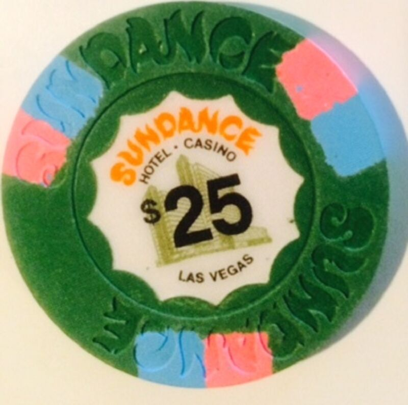 Sundance Hotel $25.00 Casino Chip House Mold Las Vegas Nevada