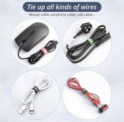 USB Cable Winder Phone Cord Organizer Mouse Aux HDMI Earphone Wire Ties...
