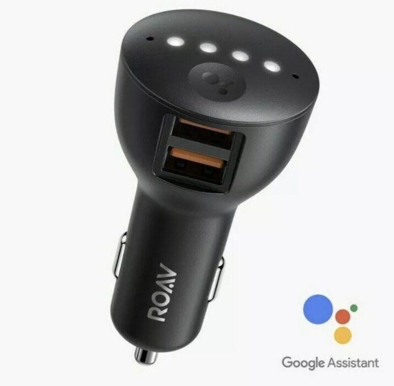 Anker ROAV Bolt 2-Port USB Car Charger W/ Google Assistant R5360 REFURBISHED
