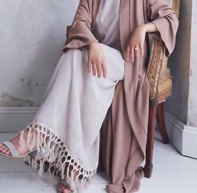 2pcs Khaleeji Abaya Arabic Half Open Jilbab Kaftan Made in Dubai S, M, L, XL