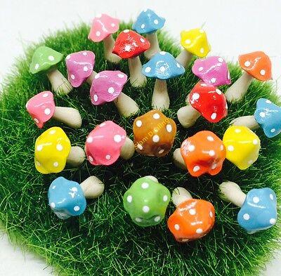 5 Pcs.mix colors mini mushrooms Dollhouse Fairy Garden Accessories Free -