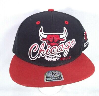 Chicago Bulls Windy City Snapback Hat Forty Seven Brand '47 Hardwood Classics