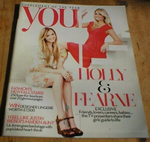 Holly Willoughby Fearne Cotton Alex Watson Justin Bieber rare YOU magazine 2010