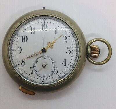 Omega Antique Base Metal & Gold Repeater Stop & Pocket Watch