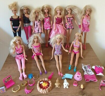 Large Barbie Doll Bundle with Accessories 11 Dolls