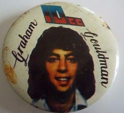 "10cc ""GRAHAM GOULDMAN""  RARE Vintage 1970's - 1980's Metal  Badge 2 ½   """