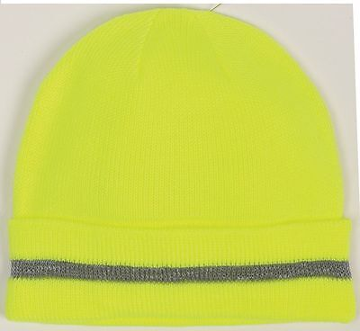 Occunomix LUX-KCR Hi-Viz Knitted Cap W/Reflective Stripe Yellow &Orange One Size Clothing, Shoes & Accessories