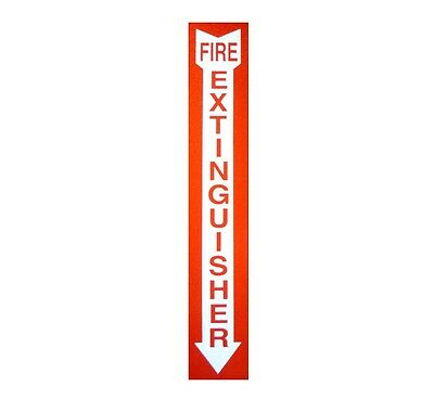 Fire Extinguisher 2 X 12 Screen Printed 3m Reflective Decal Sticker