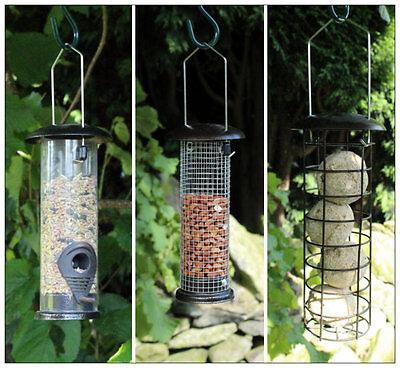 Metal Hammer Tone Wild Bird Feeder Garden Nut Seed Fat Ball Feeders Free Food  (Nut Free Bird Food)