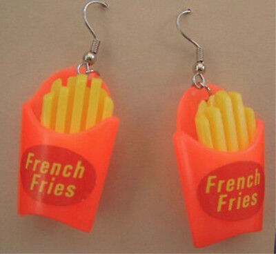 Funky FRENCH FRY FRIES EARRINGS Junk Fast Food Restaurant Snack Costume Jewelry](French Fry Costume)