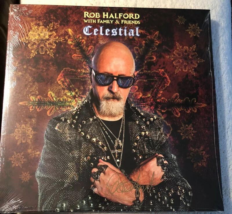 Rob Halford SIGNED GOLD VINYL Celestial LP Limited Edition Judas Priest