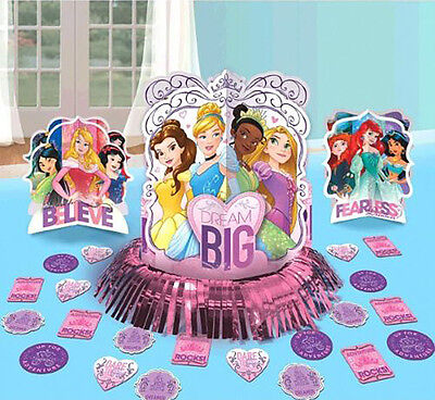 Birthday Princess Decorations (Disney Princess Table Decorating Kit Birthday Party Supplies)