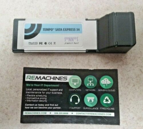 Sonnet Tempo Sata Express 34 Card For Laptop TESTED! FREE SHIPPING!