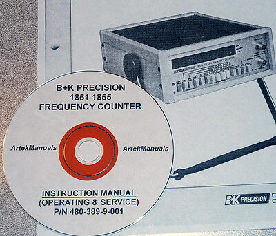 Ops Service Schematics Manual For Bk Precision 1851 1855 Frequency Counter