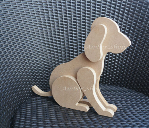 Freestanding+3D+MDF+Wooden+Dog+Craft+Garden+Home+Decoration+Shape+Christmas+Gift