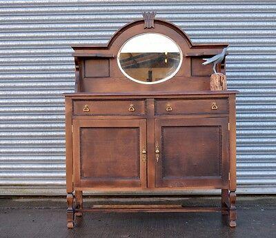 Antique Elm Oak Sideboard Chiffonier.