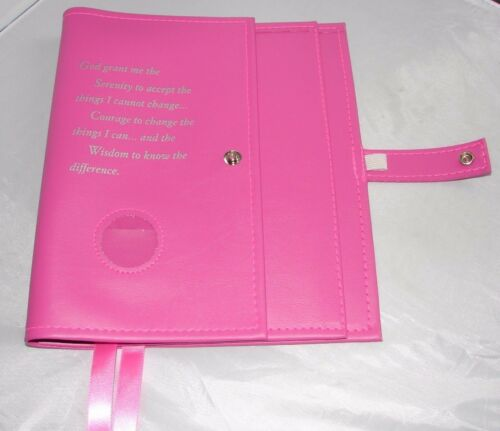 Narcotics Anonymous NA Basic Text 6th How & Why Pink Deluxe Double Book Cover