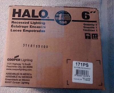 Drop Opal Lens - NIB,Halo 6'' Recessed Lighting 171PS Trim Wet  Drop Opal Lens & Reflector