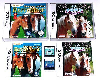 Spiele: PONY FRIENDS + ABENTEUER REITERHOF / PFERDE SPIELE / Nintendo DS + Lite online kaufen