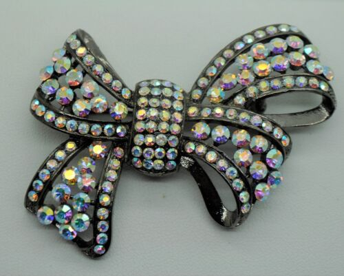 Vintage Ribbon Style Fashion Brooches clear ab high-quality Bouquet  black