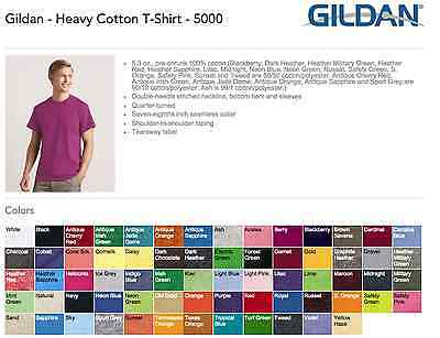 100 Blank Gildan Heavy Cotton T Shirt Wholesale Bulk Lot Ok To Mix S Xl   Colors