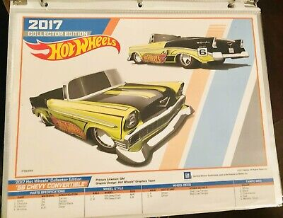 2017 Kmart Kday Hot Wheels 56 1956 Chevy convertible Mail-In E-Sheet Poster