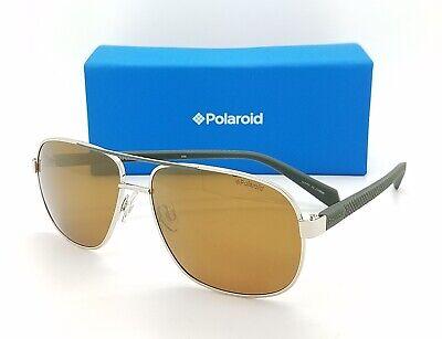 NEW Polaroid sunglasses PLD2059 PEFLM 60mm Silver Bronze Mirror GENUINE (Polaroid Sunglasses Aviator)